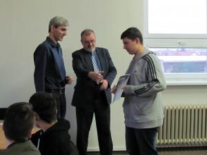 Předání diplomů za Bobříka informatiky
