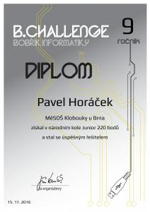 Diplom Pavel Horáček