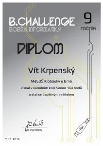 Diplom Vít Krpenský